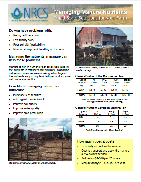 Managing Manure Nutrients 3