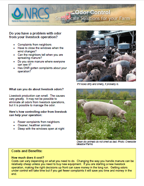 Do you have a problem with odor from your livestock operation? Costs