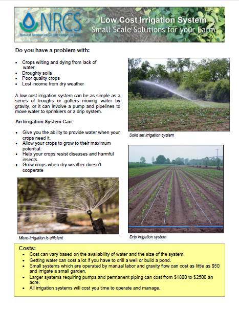 Low Cost Irrigation System