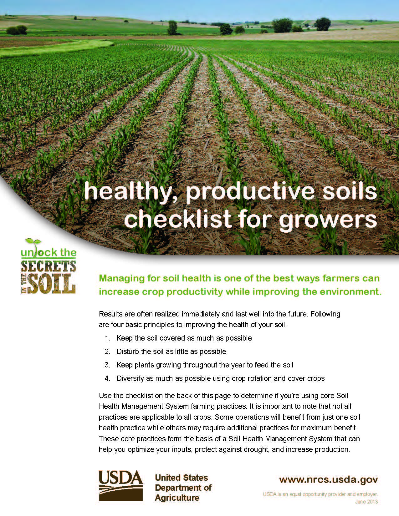 Soil health fact sheets nrcs for Soil resources definition