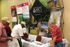 Ranchers from various parts of the country enjoyed visiting the NRCS booth at the event.