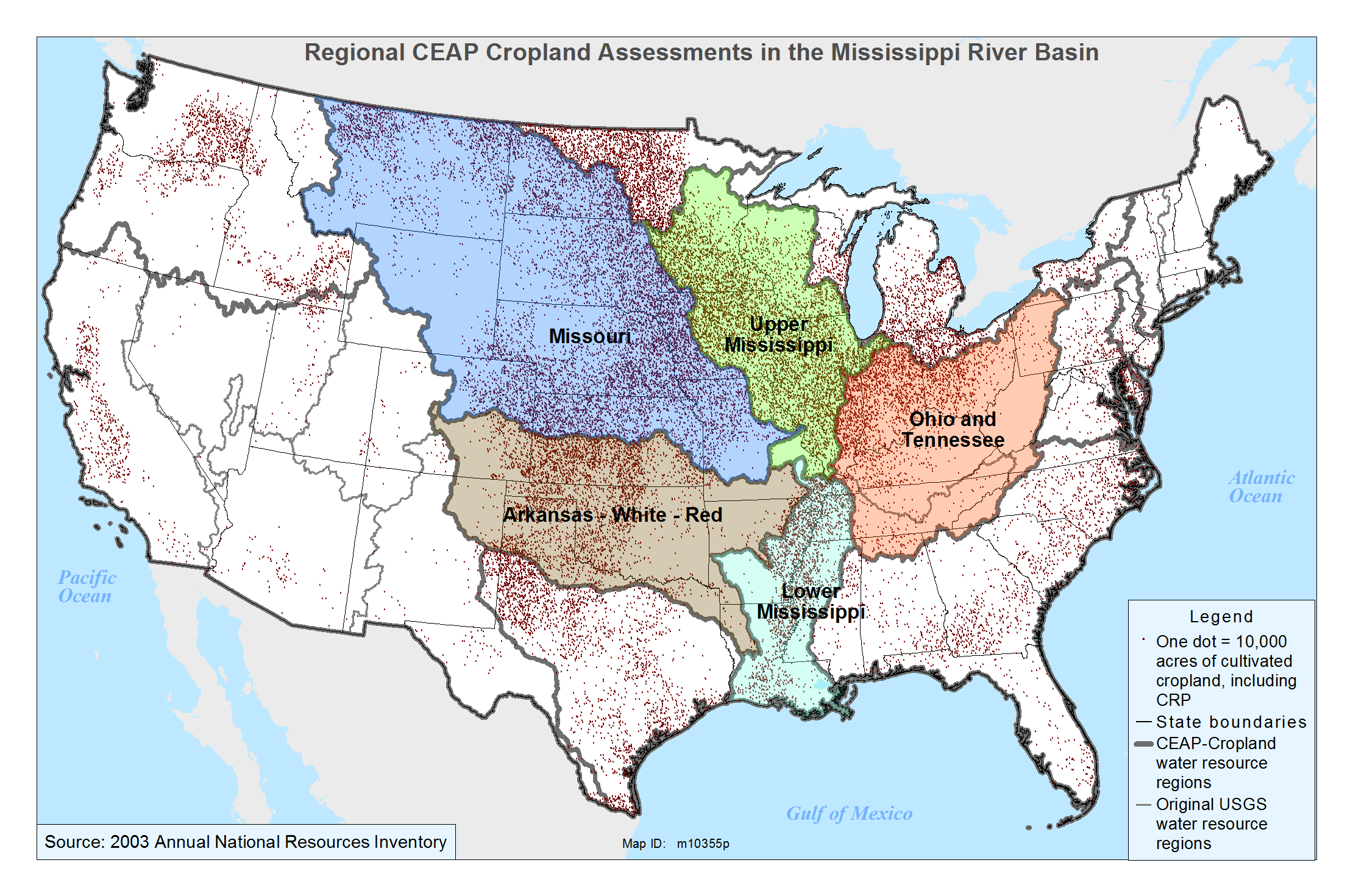 Report Conservation Work Minimizes Sediment Nutrient Runoff - Map of the us mississippi river