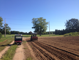 Cover crop being planting at Bristol County Agricultural High School.