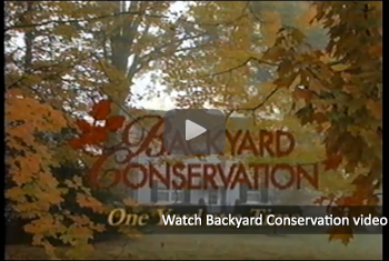 Watch a video on how homeowners can use conservation right in their own backyards.