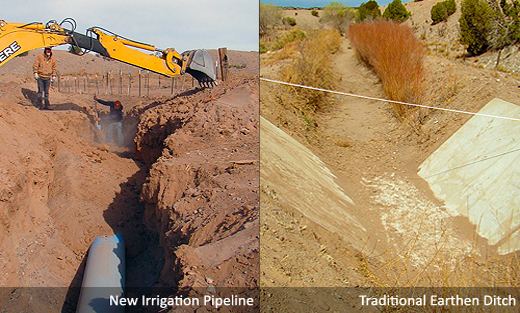 Residents of the Santo Domingo Pueblo in New Mexico worked with NRCS to run an efficient underground