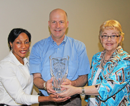 Darrell Hoggard, Brittney Yancy and Debbie Yancy were part of the Group Volunteers of the Year.