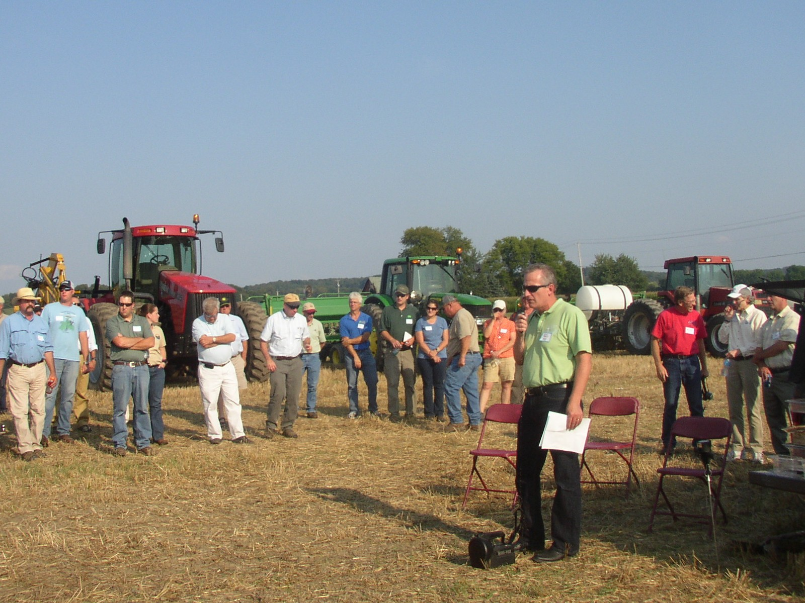 Don Pettit, State Conservationist, NRCS New York, speaking after the Soil Health meeting at the 2013 Empire Farm Days. Click image for full screen view