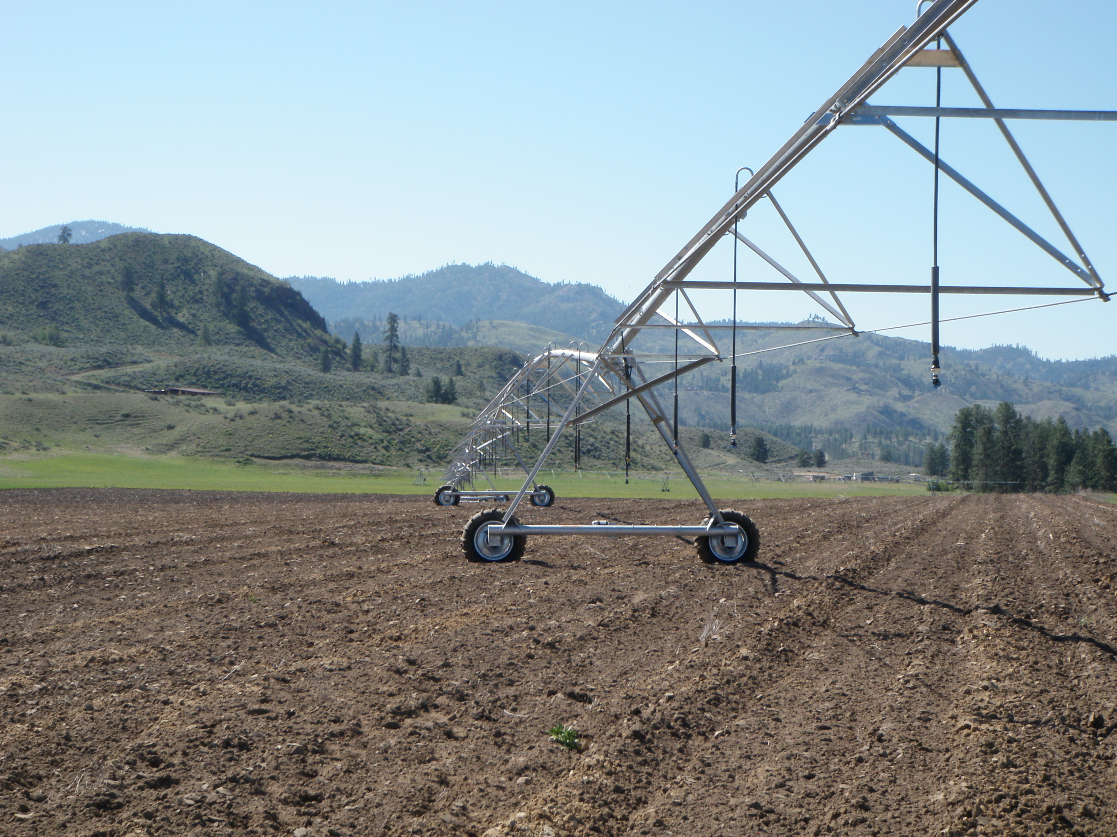 Pivots funded by EQIP in the Methow Valley