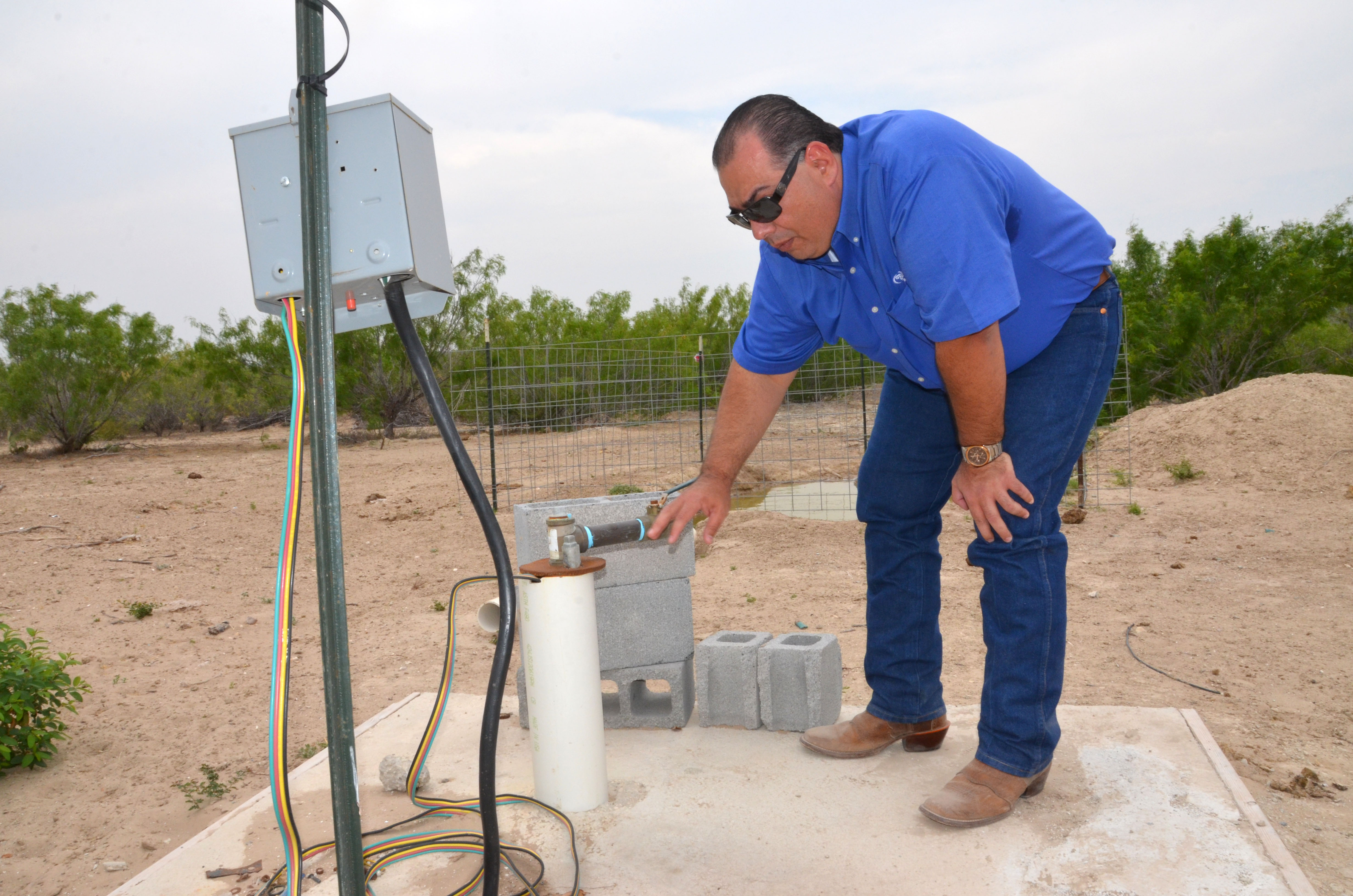 Jorge Espinoza of Laredo, Texas, worked with NRCS to install a solar-powered pump, making his farm m