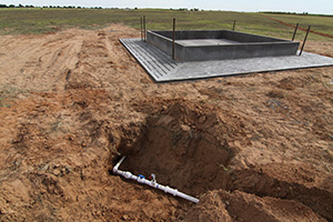 Seven concrete livestock water facilities were installed in strategic locations to facilitate proper grazing distribution.