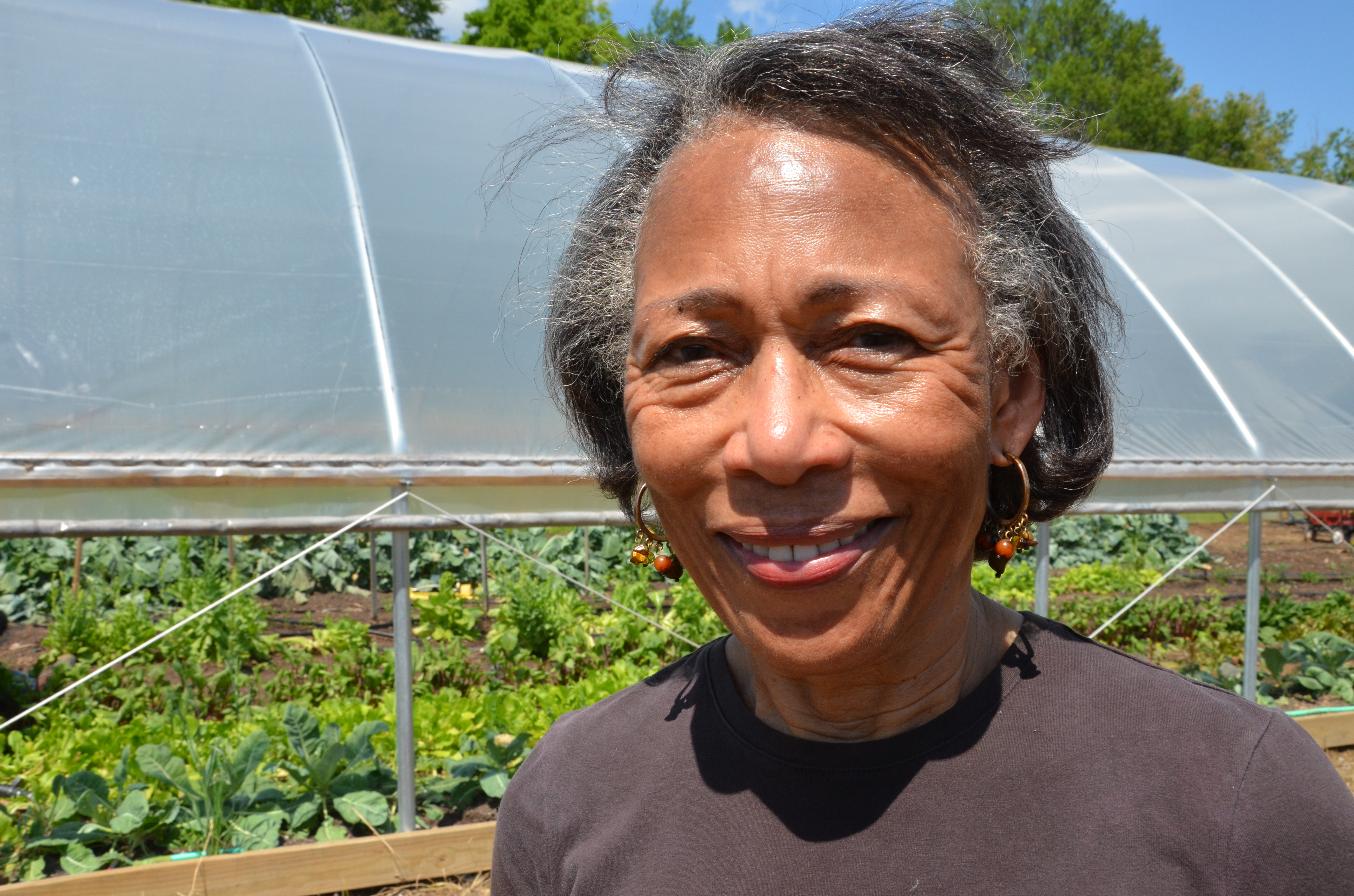 Mildred Griggs of Marianna, Ark., installed a seasonal high tunnel through the USDA StrikeForce Init