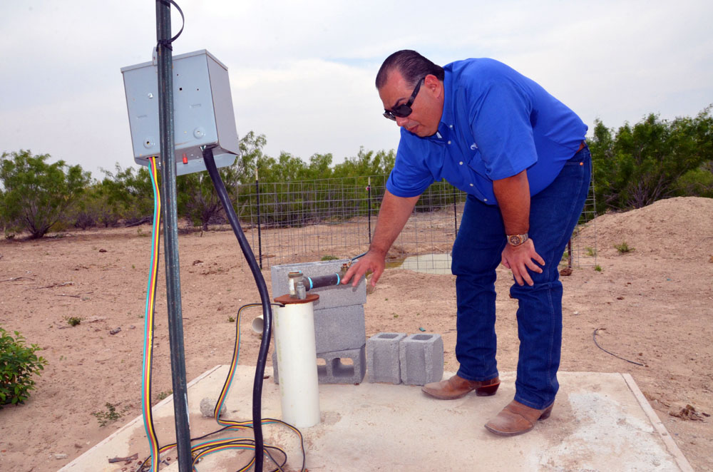 - Jorge Espinoza of Laredo, Texas recently qualified for financial assistance to install a solar pum
