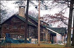 The Log Lodge was built by CCC in 1937