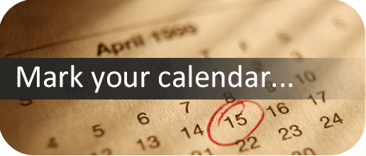 Calendar with date circled and