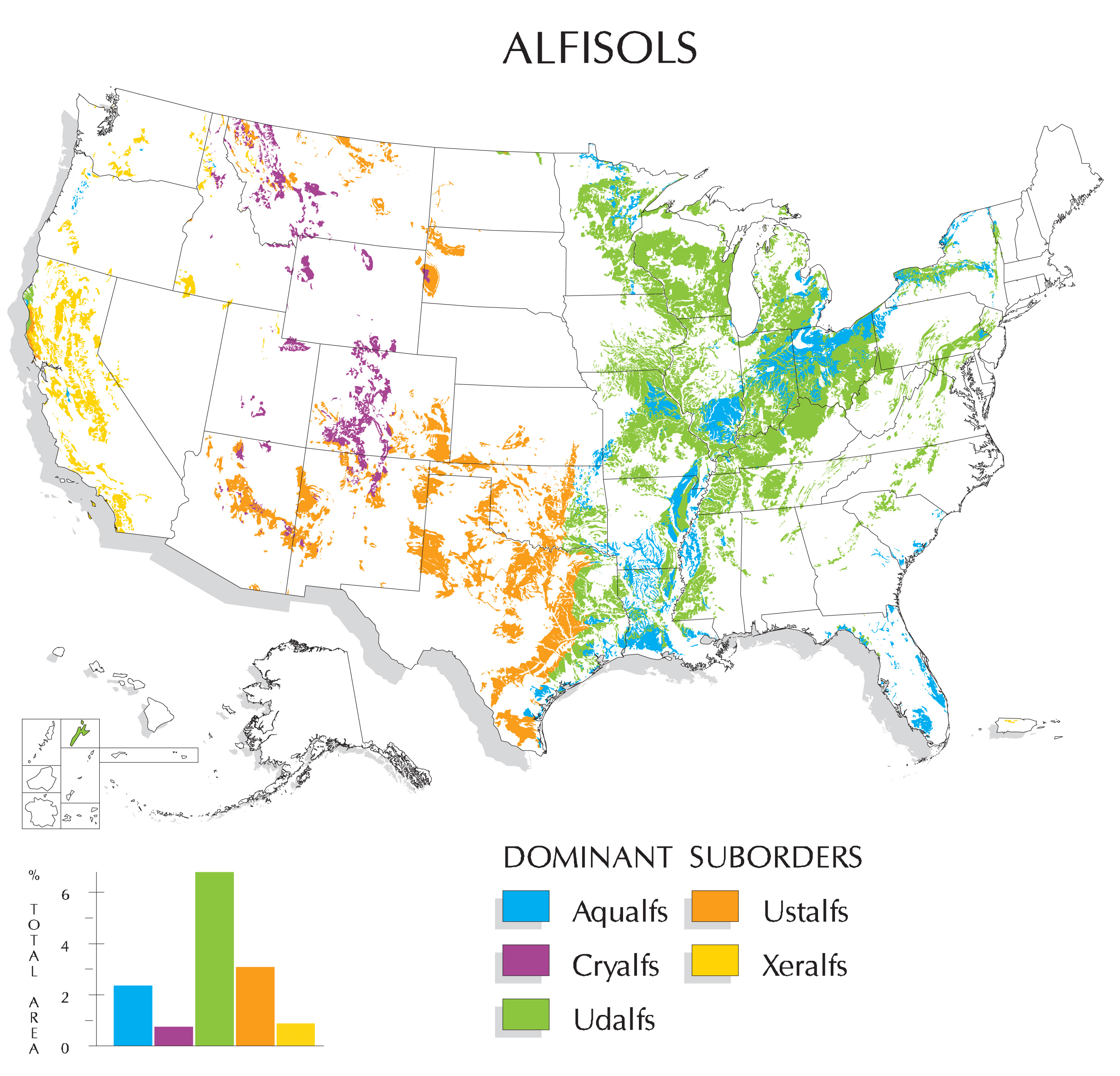 Map Of Where Alfisols Are Found In The United States