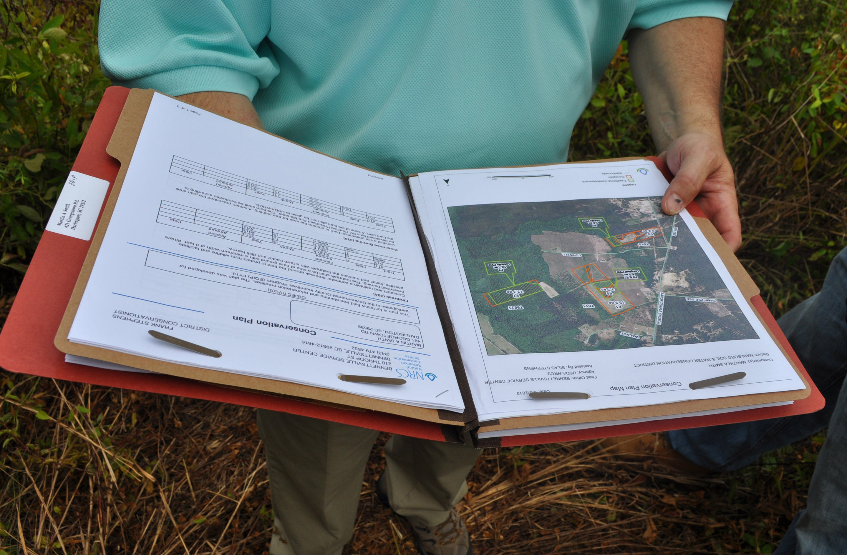 A forest management plan serves as a roadmap for implementing conservation on the Smith's land.