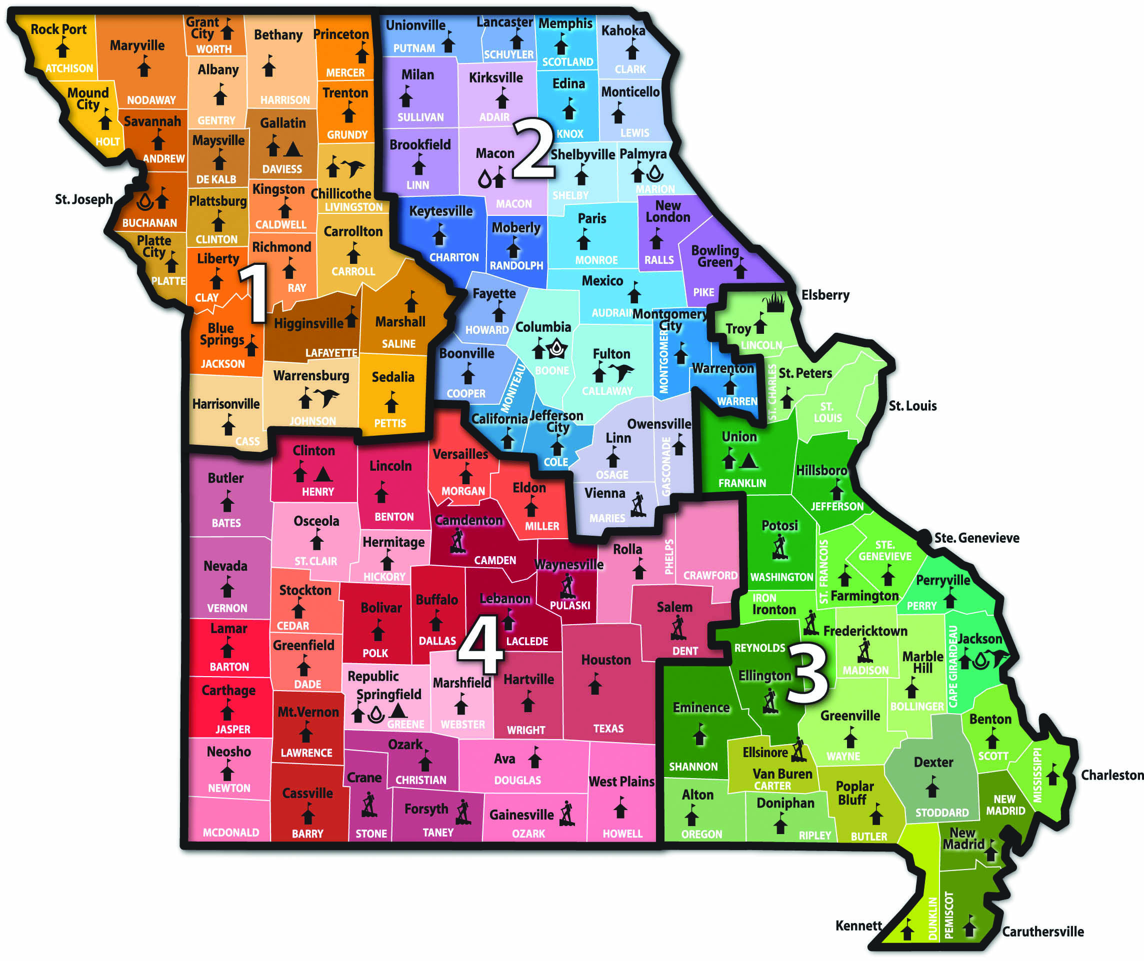 2014 Missouri NRCS Map