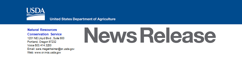USDA NRCS Oregon News Release