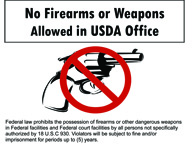No Weapons USDA Office