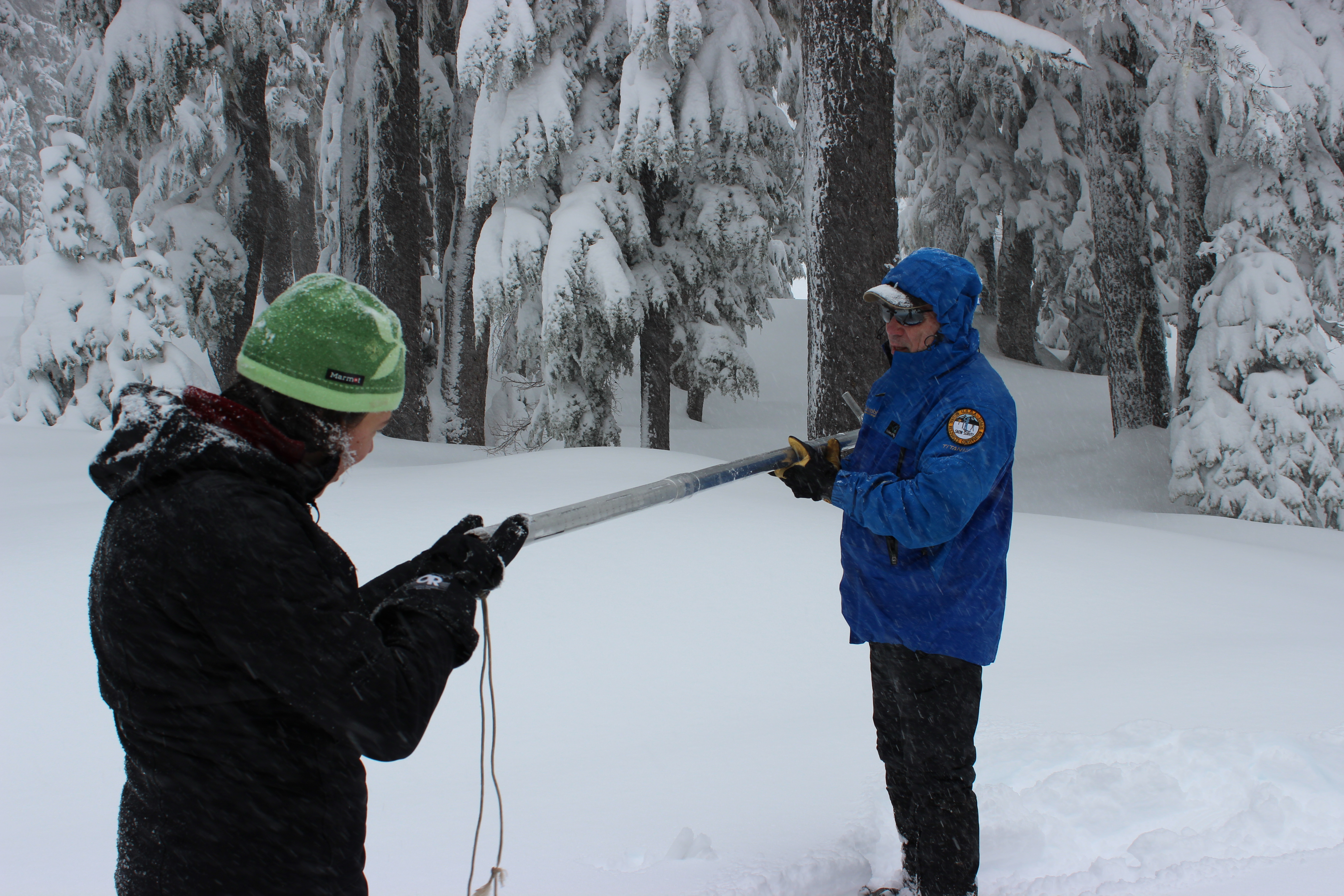 NRCS snow surveyors collect data that helps farmers, ranchers, water managers, hydroelectric compani