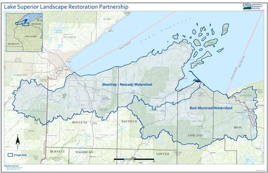 Lake Superior Project Watersheds map