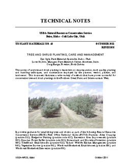 Image of Tree  and Shrub Planting Care and Management publication