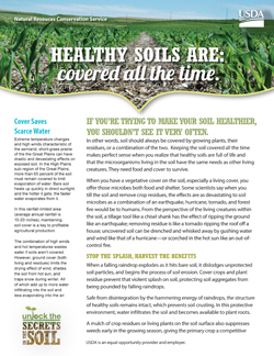 Soil Health Matters: Keep Soil Covered All the Time Fact Sheet