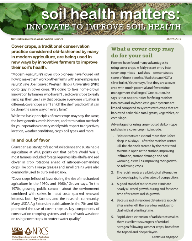 Innovate to Improve Soil Health Fact Sheet