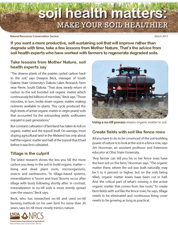 Make Your Soil Healthier Fact Sheet