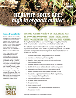 Healthy Soils are High in Organic Matter Fact Sheet