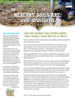 Healthy Soils are Well Structured Fact Sheet