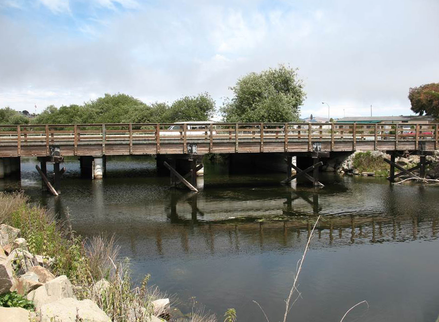 Man-made structures may influence the quality of a stream.