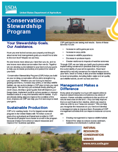 Conservation Stewardship Program fact sheet