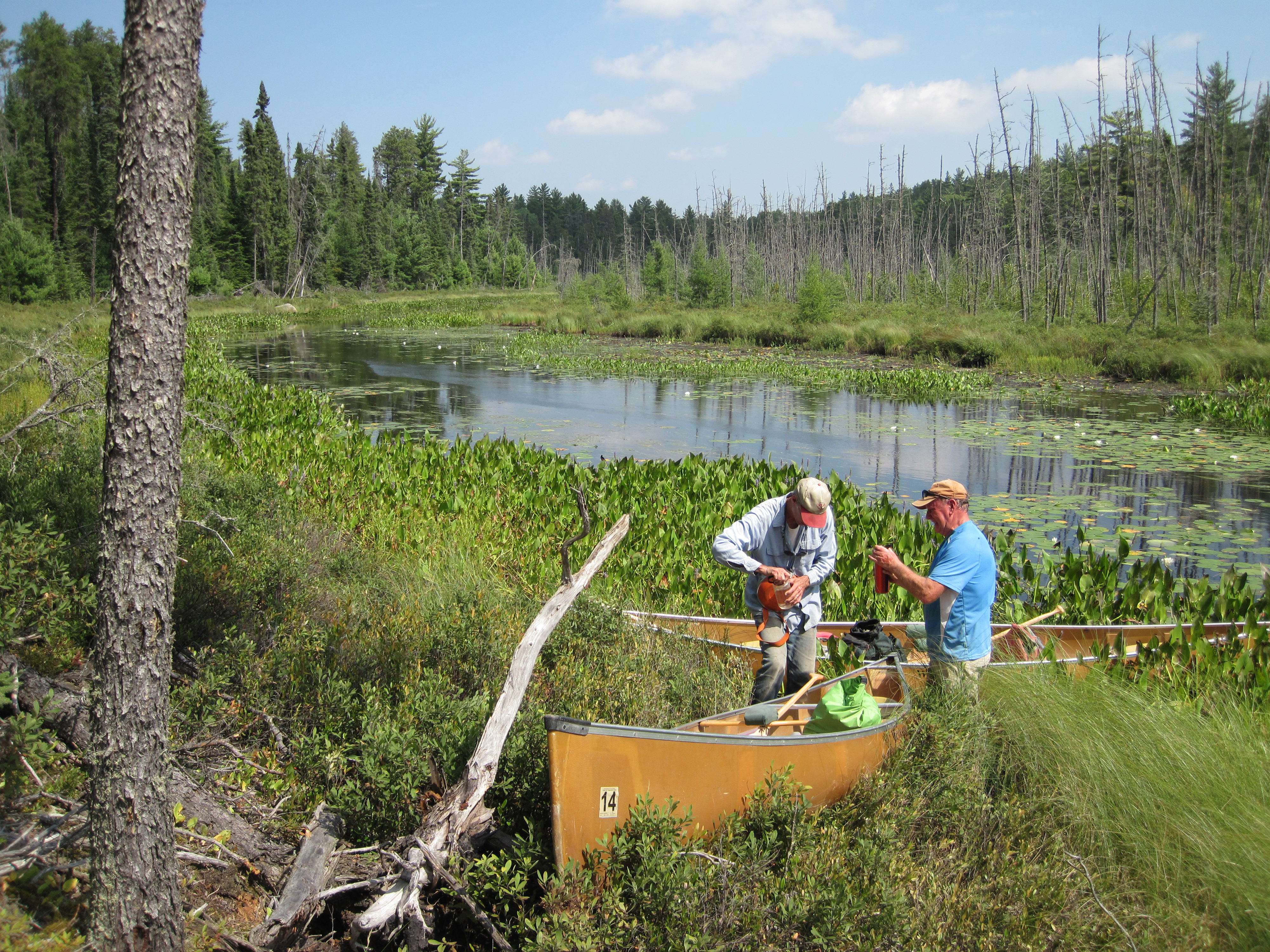 Seven volunteers with Earth Team logged 510 hours of service in the Boundary Waters Canoe Area Wilderness for assisting NRCS staff on five soil surveying expeditions.