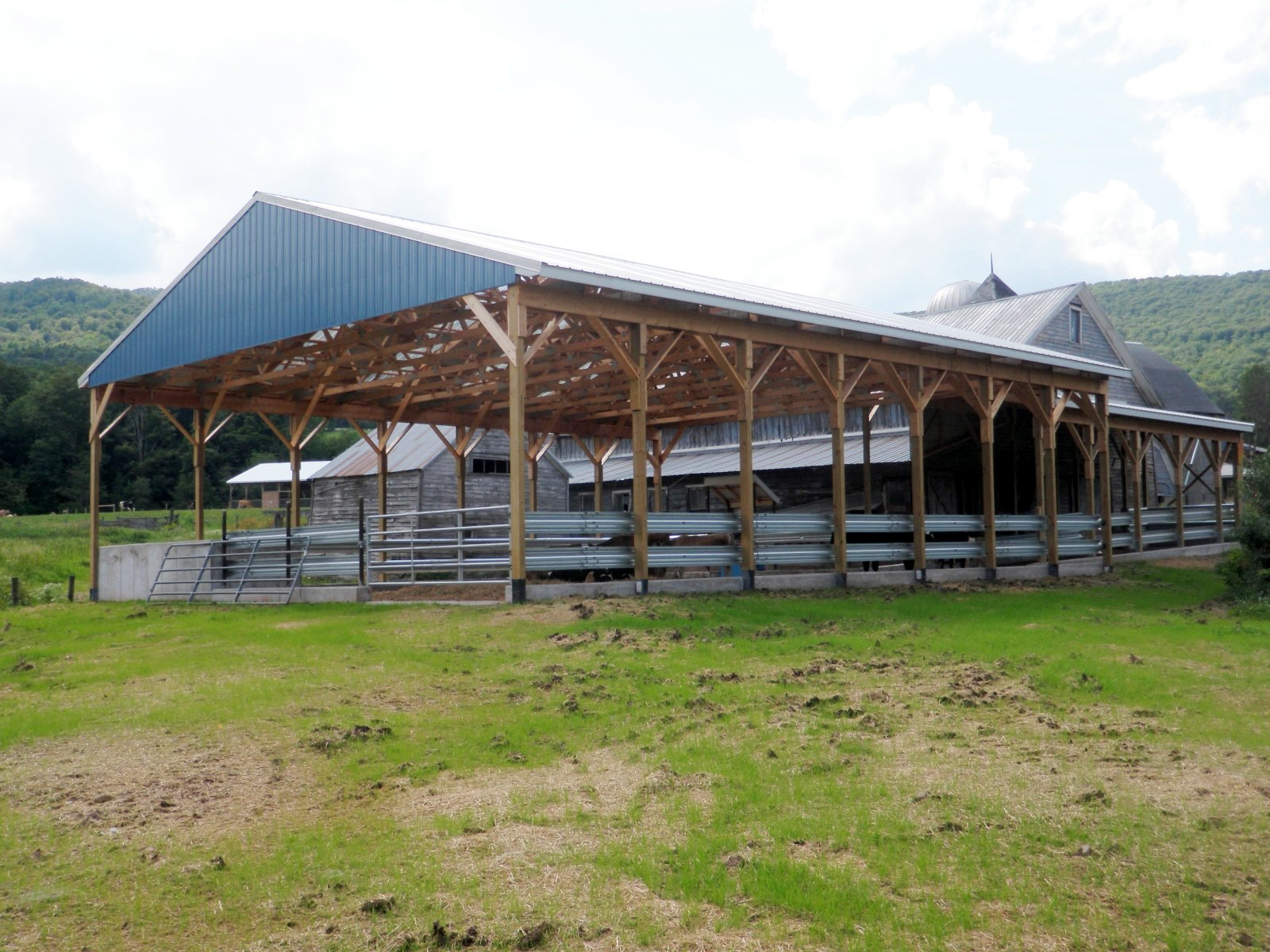 Covered barnyard after construction