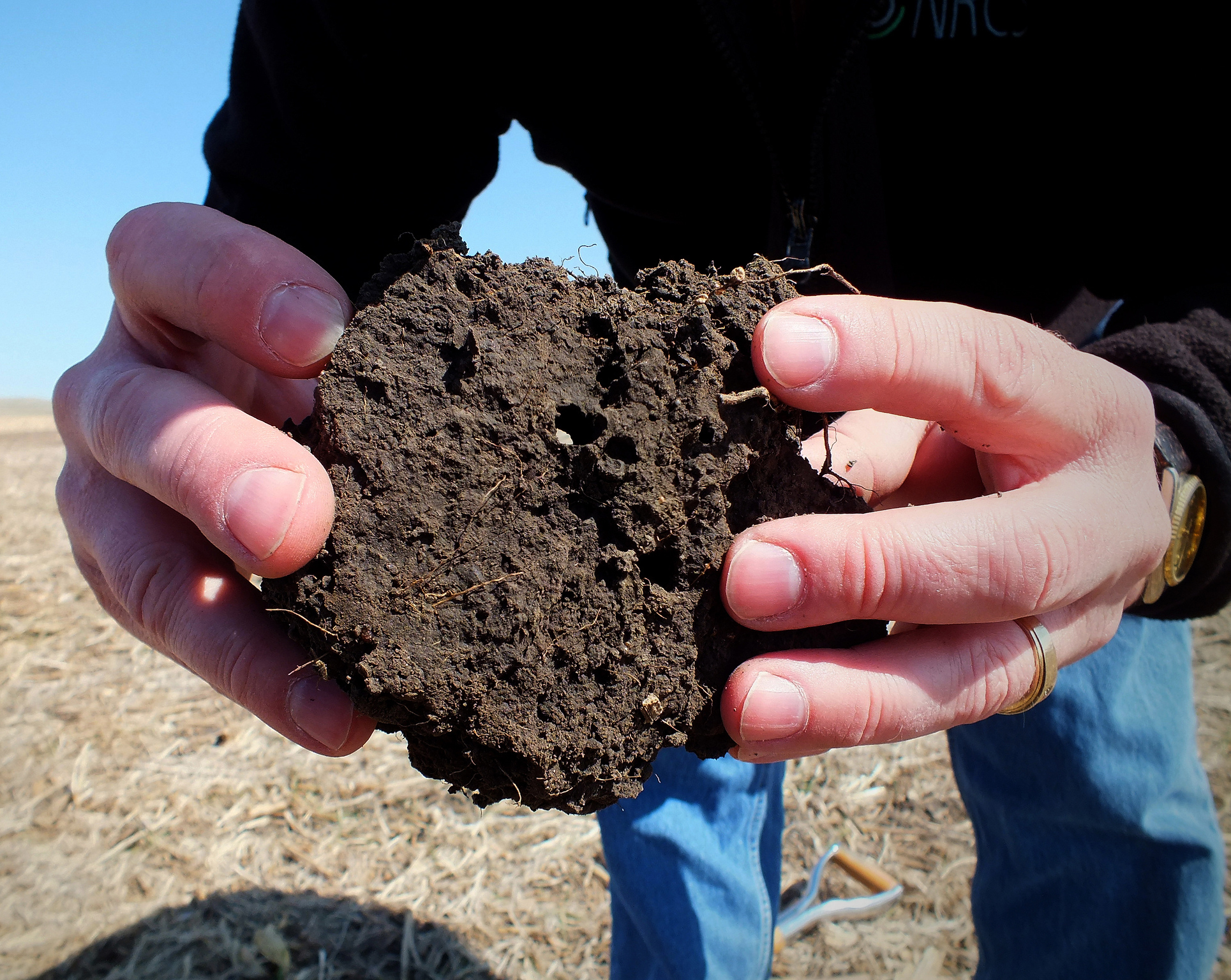 We can repair and rebuild it. For years, it was believed that a certain amount of cropland soil e