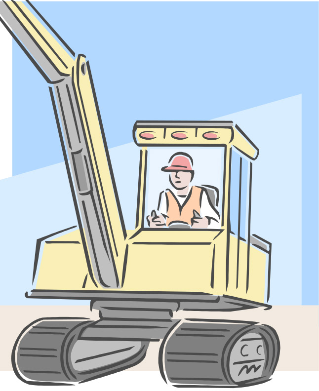 graphic of backhoe