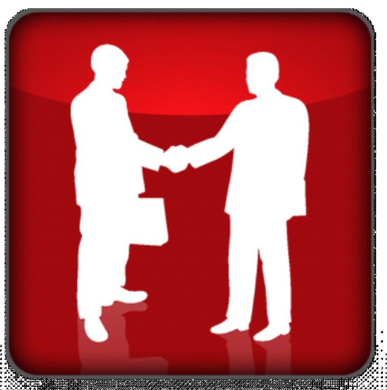graphic of two men shaking hands
