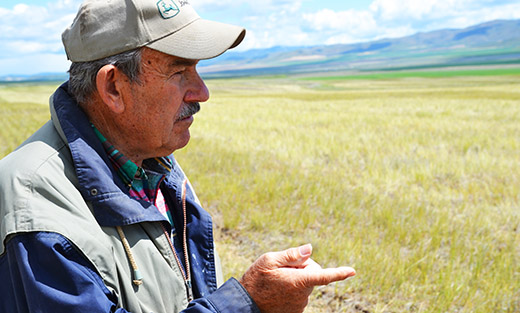 Northern Utah dryland farmer Clair Zollinger explains how no-till farming works.