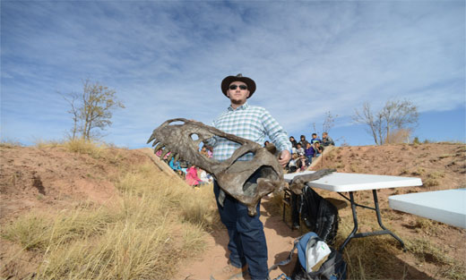 Photo of Garrett LeMons of Mesalands Dinosaur Meseum in Tucumcari