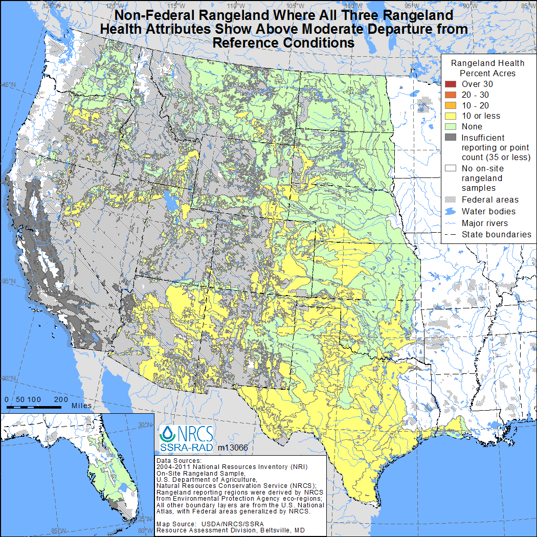 Map showing Non-Federal 