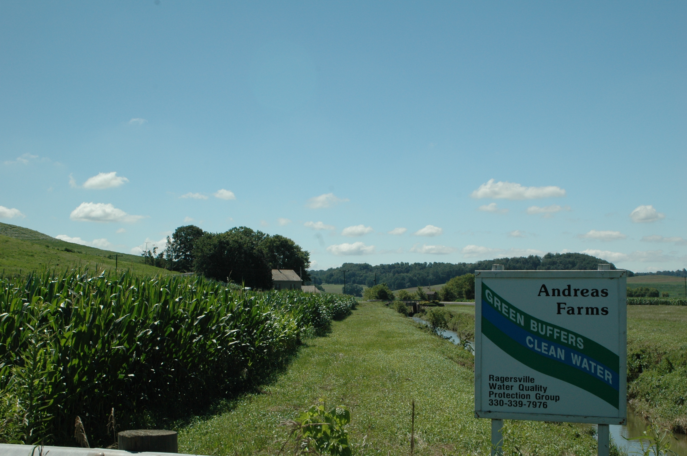 Andreas Farm installed a buffer to help improve water quality.