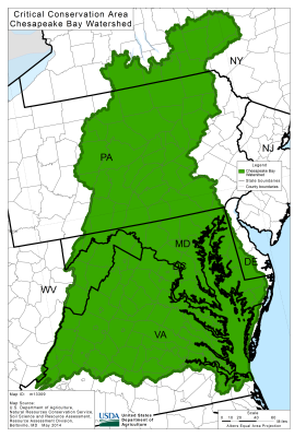 Thumbmail of Chesapeake Bay CCA Map