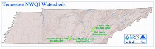 Tennessee NWQI Watersheds