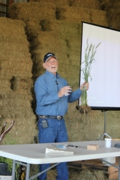 Thomas Clayman discussing various cover crop species.