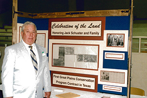 Jack Schuster and Family received the Celebration of the Land Award in 1995 in Muleshoe, Texas.