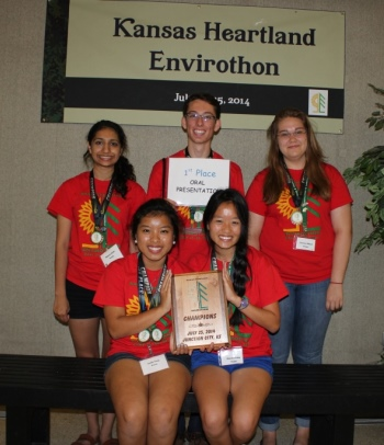 Envirothon team from Conroe Independent School District, The Woodlands, Texas