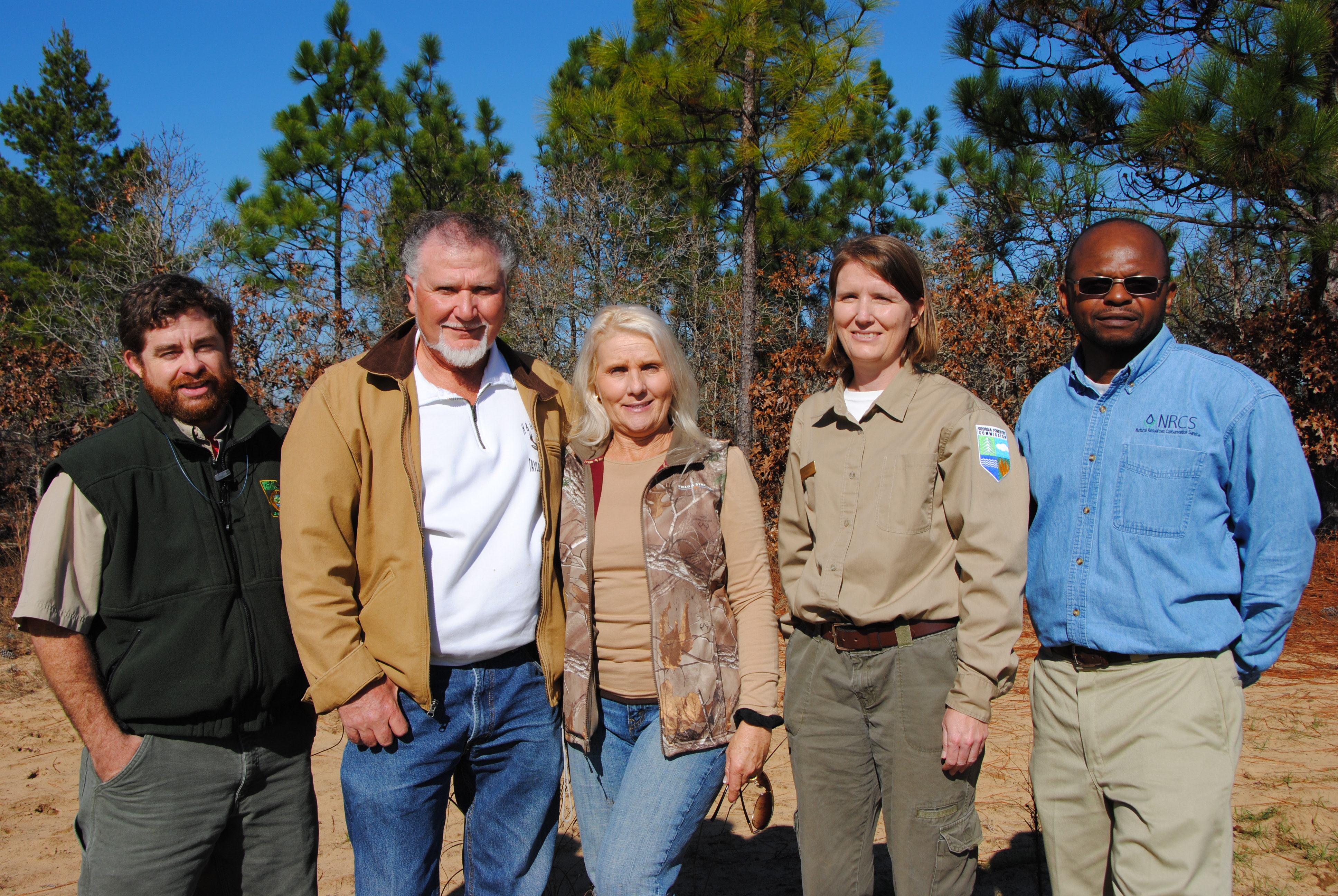 This longleaf pine project was made possible through a multi-agency partnership.