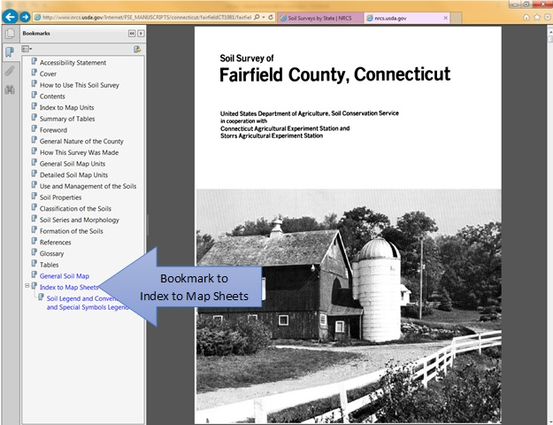 Screen capture of the Fairfield County, Connecticut, manuscript.