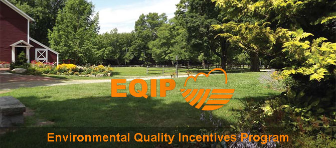 Scenic CT farm with EQIP logo